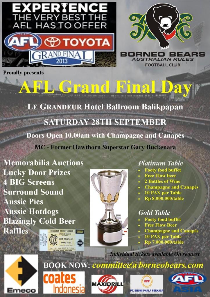 Borneo_Bears_AFL_Grand_Final_2013_Function_Flyer