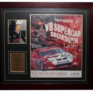 21. BROCK SIGNED FRAME